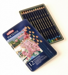 Laurence Mathews Derwent Inktense Tin of 12 Inktense Tin of 12 Colours