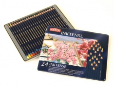 Laurence Mathews Derwent Inktense Tin of 24 Inktense Tin of 24 Colours