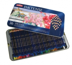 Laurence Mathews Derwent Inktense Tin of 36 Inktense set of 36 colours in a tin