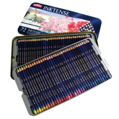 Laurence Mathews Derwent Inktense Tin of 72 Inktense set of 72 colours in a tin