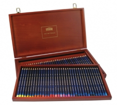 Laurence Mathews Derwent Inktense Wooden Box of 72 Inktense set of 72 colours in a beautiful wooden box