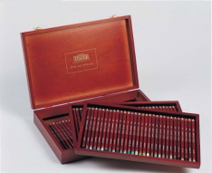 Laurence Mathews Derwent Pastel Pencil Wooden Box  (72 Colours)