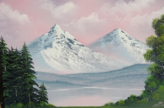 Laurence Mathews Oil Painting Classes Bob Ross Style